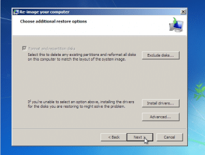 restore windows 7 from system image