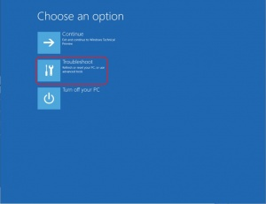 Troubleshoot Option; fix flashing screen after Windows 10 upgrade
