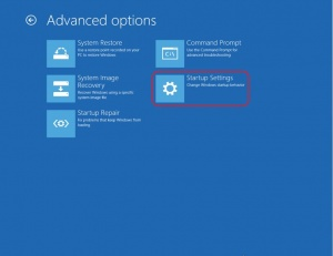 Start Up Settings; fix flashing screen after Windows 10 upgrade
