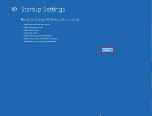 Startup Settings Options; fix flashing screen after Windows 10 upgrade