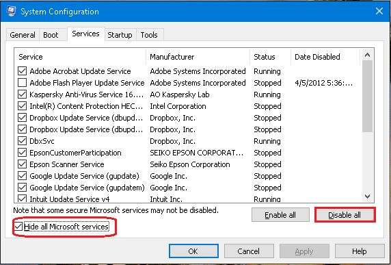Clean Boot Windows Troubleshoot Software Conflicts