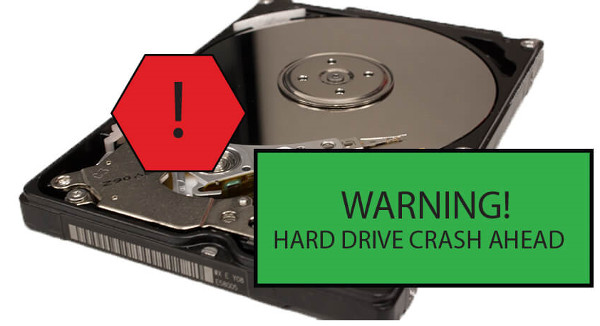 computers break down because of hard drive crash